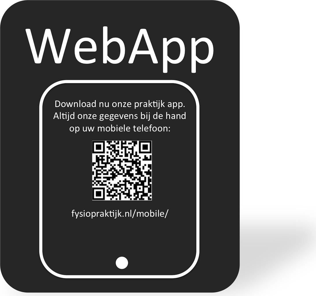 webapp fysiopraktijk