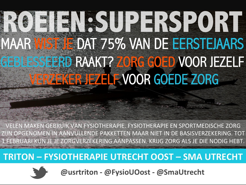 Fysiotherapie Utrecht Oost Triton roeien